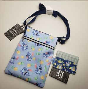 Loungefly Disney Stitch Crossbody and Cardholder